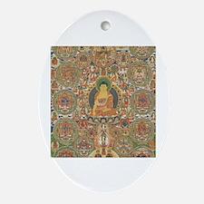 Unique Buddhist mandala Oval Ornament