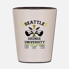 seattle grunge university Shot Glass