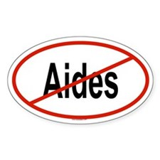 AIDES Oval Decal