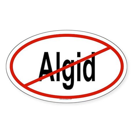 ALGID Oval Sticker