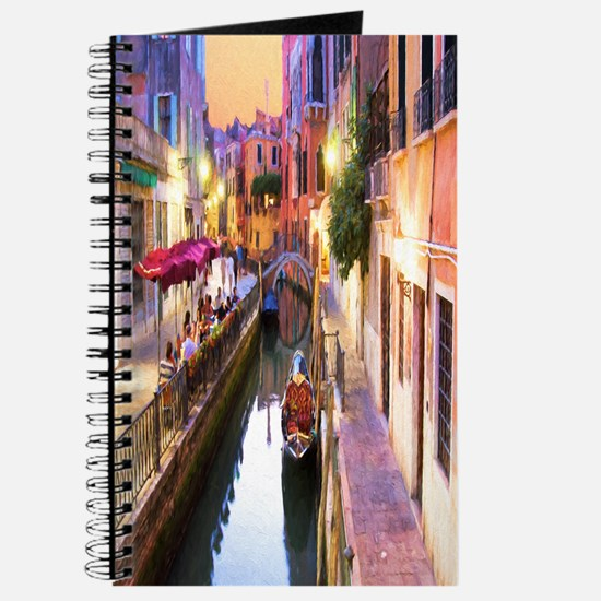 Romantic Canal In Venice Italy Journal