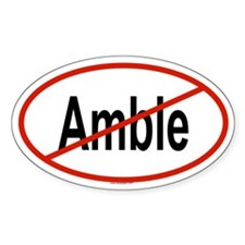 AMBLE Oval Decal
