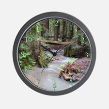Forest Stream Wall Clock