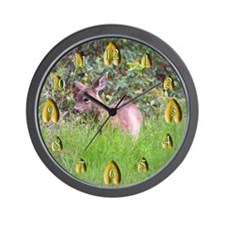 Deer and Tracks Wall Clock