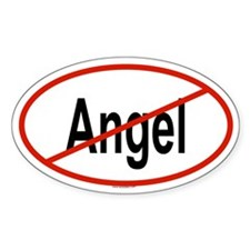 ANGEL Oval Decal