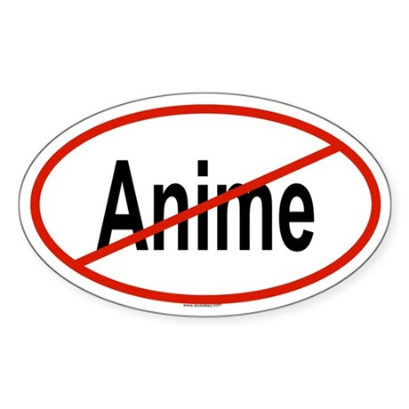 ANIME Oval Sticker