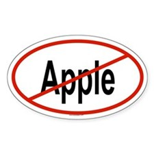 APPLE Oval Decal