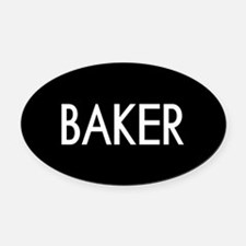 Culinary: Baker Oval Car Magnet