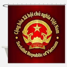 Vietnam Emblem Shower Curtain