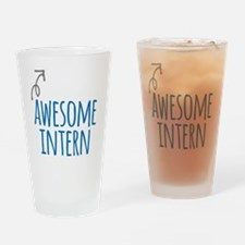 Awesome intern Drinking Glass