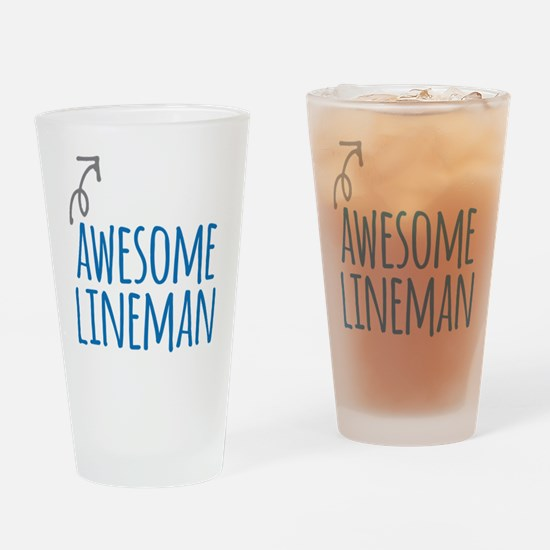 lineman Drinking Glass