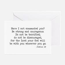 Joshua 1:9 Greeting Cards