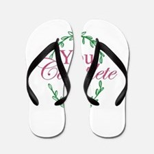 Love Valentine's Day Romantic Flip Flops