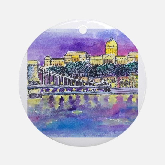 Cute Budapest Round Ornament