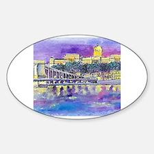 Cute Danube Sticker (Oval)