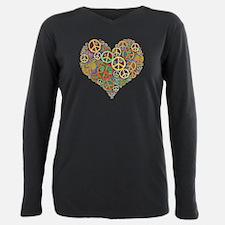 Cool Peace Sign Hear T-Shirt
