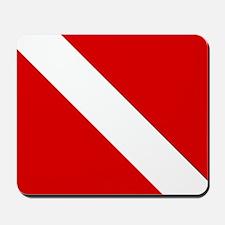 Diving: Diving Flag Mousepad