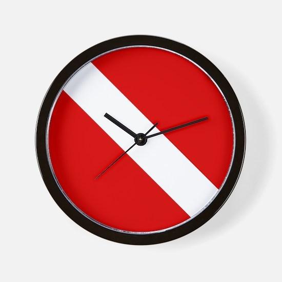 Diving: Diving Flag Wall Clock