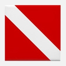 Diving: Diving Flag Tile Coaster