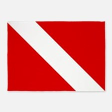 Diving: Diving Flag 5'x7'Area Rug