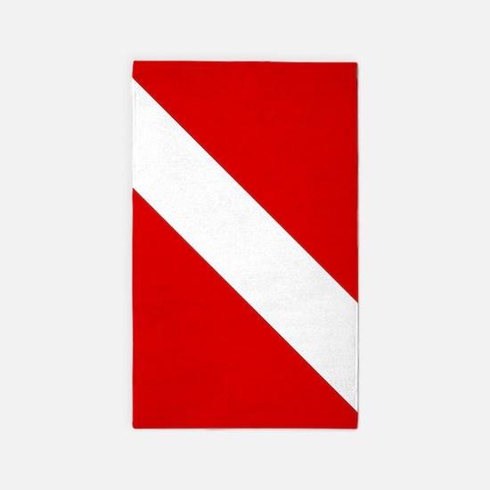 Diving: Diving Flag Area Rug