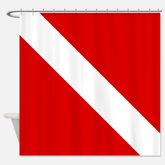 Diving: Diving Flag Shower Curtain