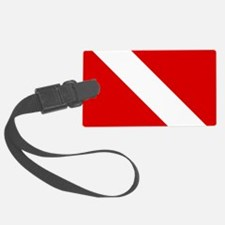 Diving: Diving Flag Luggage Tag
