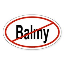BALMY Oval Decal