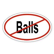 BALLS Oval Decal