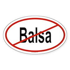 BALSA Oval Decal