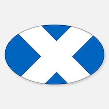 Scotland: Scottish Flag (Saltire) Sticker (Oval)