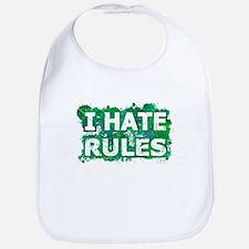 I Hate Rules (Ink Spots) (Green) Baby Bib