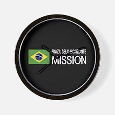 Brazil, Belo Horizonte Mission (Flag) Wall Clock