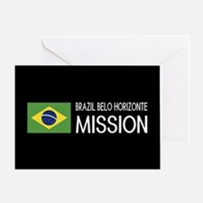 Brazil, Belo Horizonte Mission (Flag Greeting Card