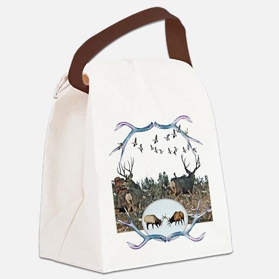 Deer elk and geese Canvas Lunch Bag