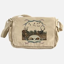 Deer elk and geese Messenger Bag