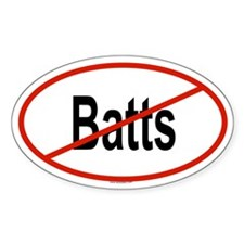 BATTS Oval Decal