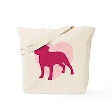Staffordshire Bull Terrier Valentine's Day Tote Ba