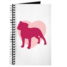 Staffordshire Bull Terrier Valentine's Day Journal