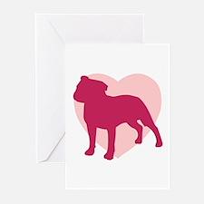 Staffordshire Bull Terrier Valentine's Day Greetin