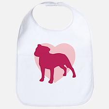 Staffordshire Bull Terrier Valentine's Day Bib