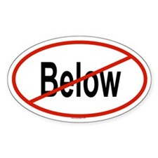 BELOW Oval Decal
