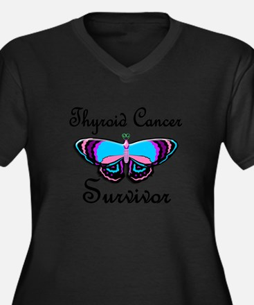 Butterfly Survivor 1 (Thyroid Cancer) Plus Size T-