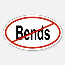 BENDS Oval Decal