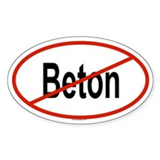 BETON Oval Decal