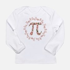 Pink Roses Pi Day Long Sleeve T-Shirt