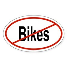 BIKES Oval Decal