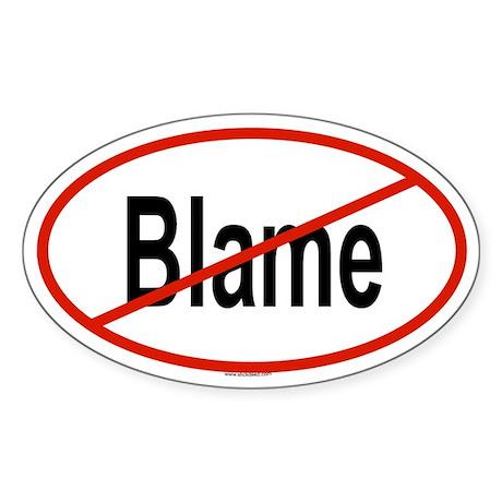 BLAME Oval Sticker