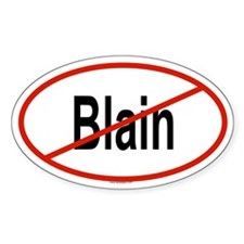 BLAIN Oval Decal