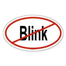 BLINK Oval Decal